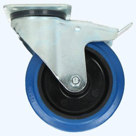 Zwenkwiel met rem RNB 125 mm 180 kg