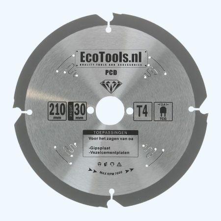 PCD zaagblad 210 x 30 mm T=4