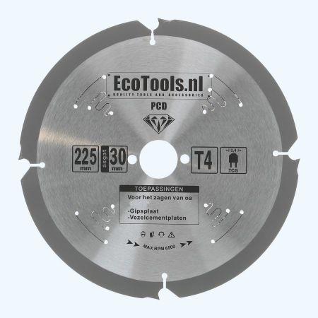 PCD zaagblad 225 x 30 mm T=4