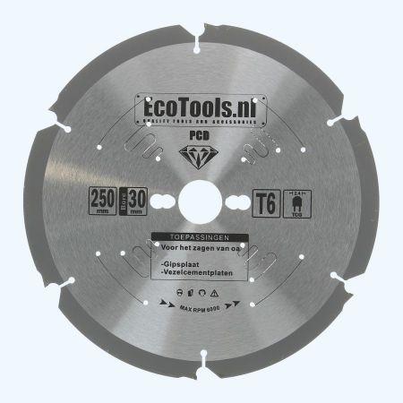 PCD zaagblad 250 x 30 mm T=6