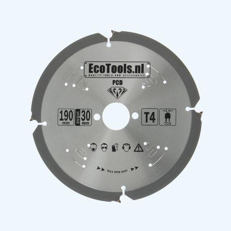 PCD zaagblad 190 x 30 mm T=4