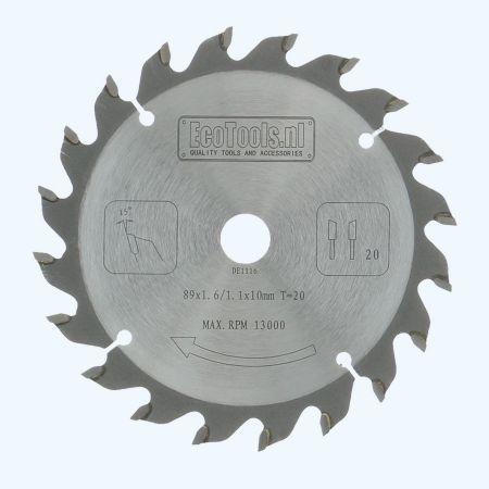Precisie zaagblad 89 x 10 mm T20