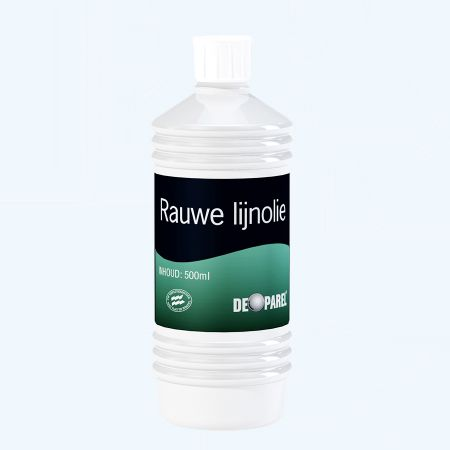 De Parel Rauwe lijnolie 500 ml