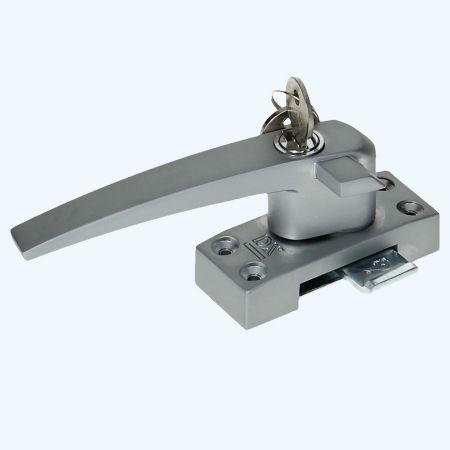 Raamsluiting Aluminium links met cilinderslot