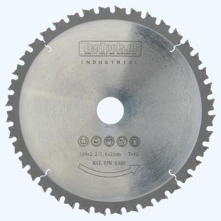 HM-zaagblad metaal 160 x 20 mm T=40