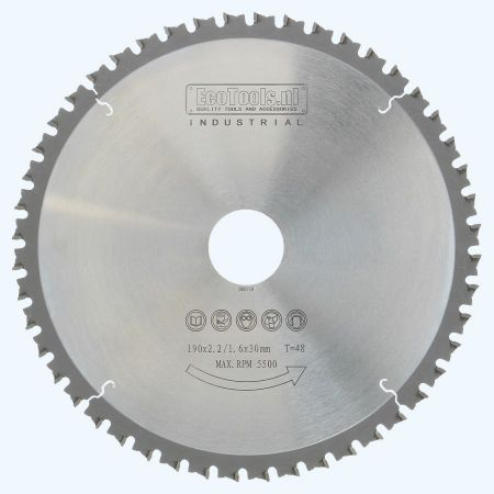 HM-zaagblad metaal 190 x 30 mm T=48
