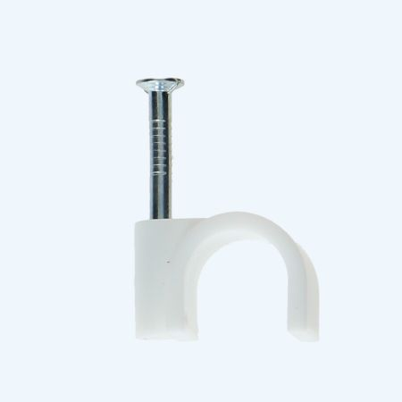 Spijkerclips 9 mm wit (100 stuks)