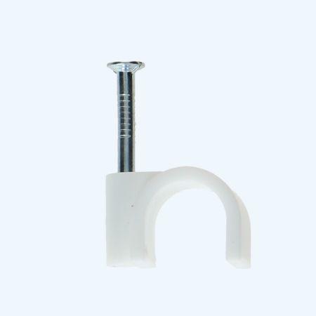 Spijkerclips 12 mm wit (100 stuks)