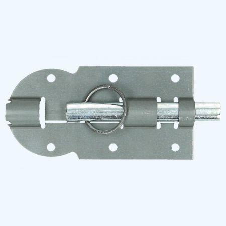 Klepscharnier staal 80 x 28 mm vaste messing pen
