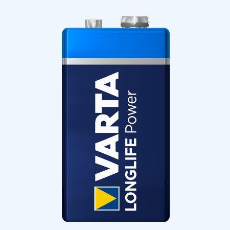 Varta Longlife Power 9 Volt block batterij