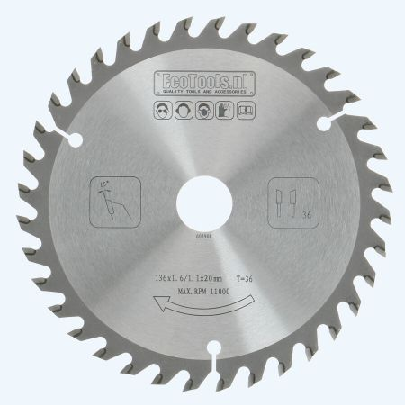 HM zaagblad 136 x 20 mm T36 (1,1 / 1,6mm) Prof