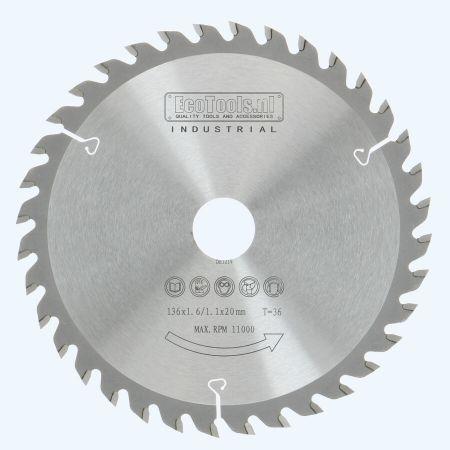 zaagblad 136 x 20 mm T36 (1,1 / 1,6mm) Industrieel