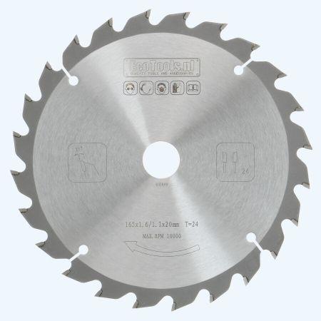 HM zaagblad 165 x 20 mm T24 (1,1 / 1,6mm) Prof