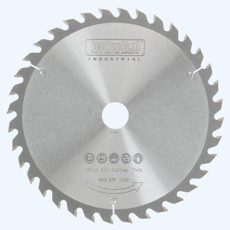 dun zaagblad 165 x 20 mm T36 (1,1 / 1,6mm) Industriee