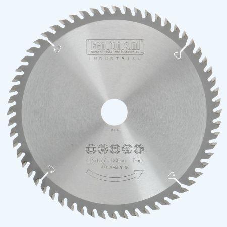 zaagblad 165 x 20 mm T60 (1,1 / 1,6mm) Industrieel