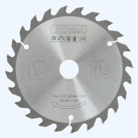 HM zaagblad 136 x 20 mm T24 (1,1 / 1,6mm) Prof