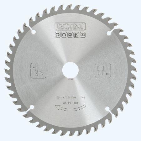 HM zaagblad 165 x 20 mm T48 (1,1 / 1,6mm) Prof