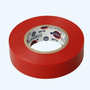 Isolatietape 19 mm x 25 meter rood