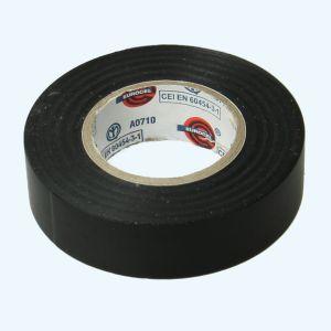 Isolatietape 19 mm x 25 meter zwart