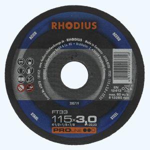Doorslijpschijf METAAL 115 x 3,0 x 22,23 mm (Rhodius)