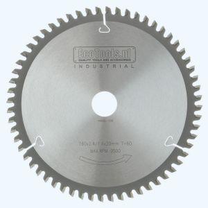 HM-zaagblad Industrial 160 x 20 mm T=60 (vlak-daktand)