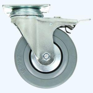 Zwenkwiel met rem RBG 100 mm 60 kg