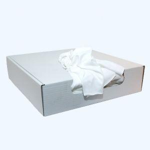 Poetslappen van gesneden witte t-shirts 3,5 kg in doos