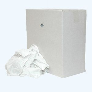 Poetslappen van gesneden witte lakens 10 kg in doos