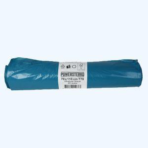 20 stuks LDPE afvalzakken op rol 70 x 110 cm, 120 liter