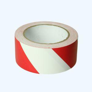 Vloermarkeringstape 50 mm x 33 meter (rood/wit)