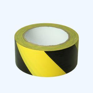 Vloermarkeringstape 50 mm x 33 meter (geel/zwart)